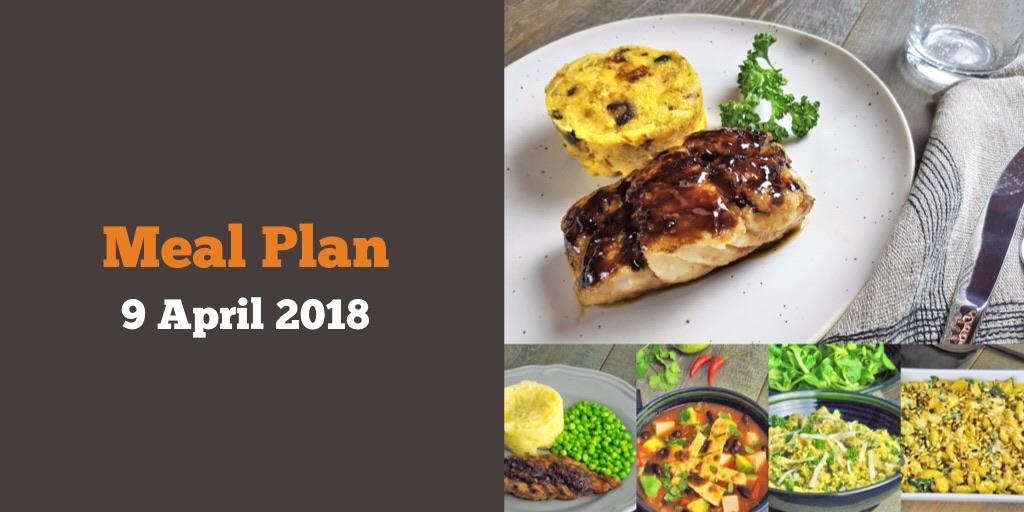 Meal plan 9 April 2018
