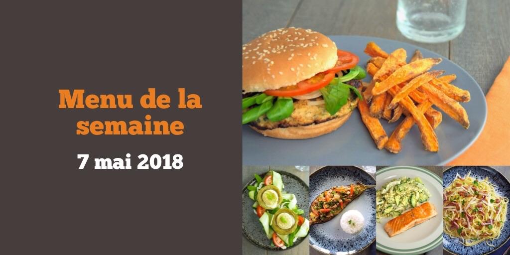 Le menu de la semaine de 7 mai 2018