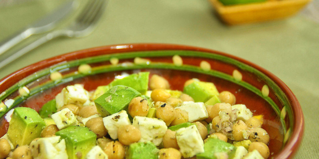 Salade Pois Chiche Avocat Chickpea Avocado Salad