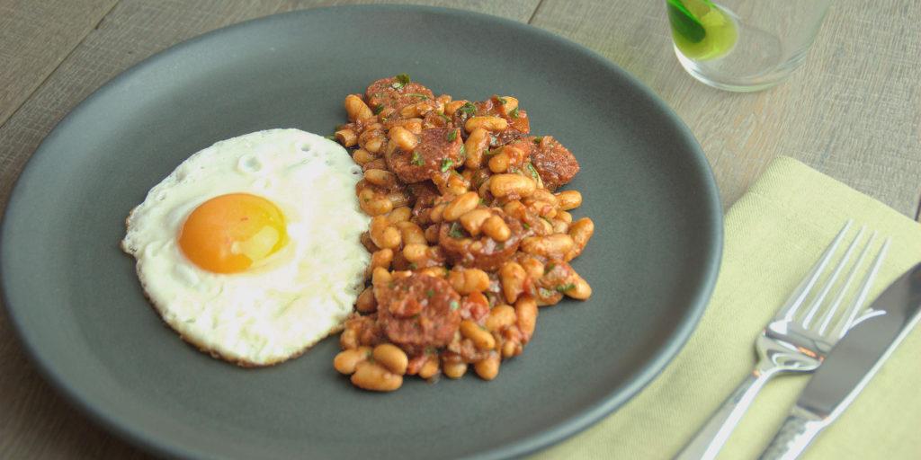 Ragoût Haricots Blancs Chorizo Bean Chorizo