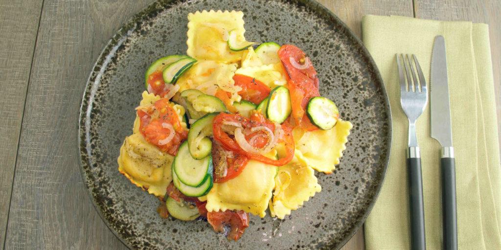 Ravioli Légumes Provençaux Ravioli Spring Vegetables Pot