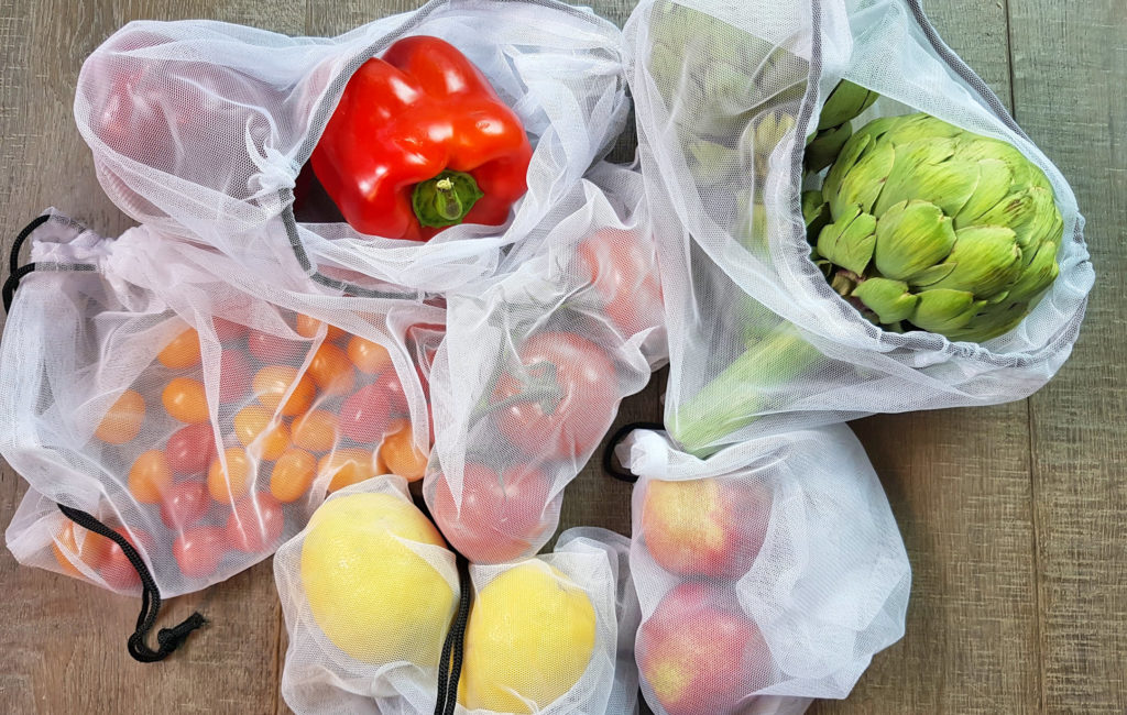 Reusable Produce Bags With Veg