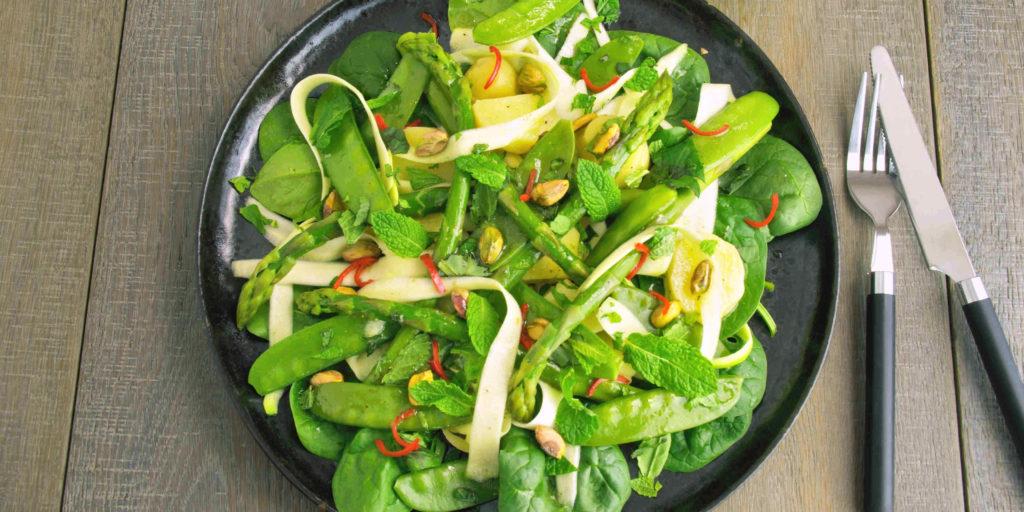 Salade Printanière Légumes Verts Green Vegetables Spring Salad