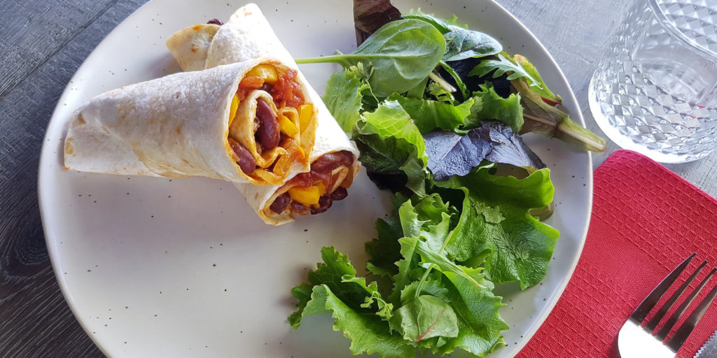 Wrap Mexicain Poivrons Haricots Rouges Pepper And Red Bean Mexican Wrap