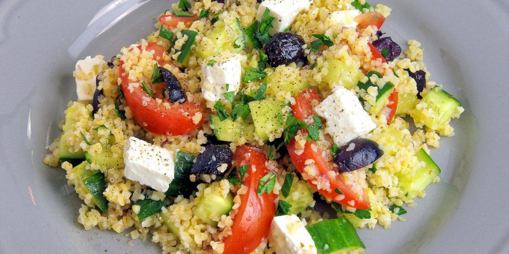 Salade Grecque Boulgour Bulgur Greek Salad