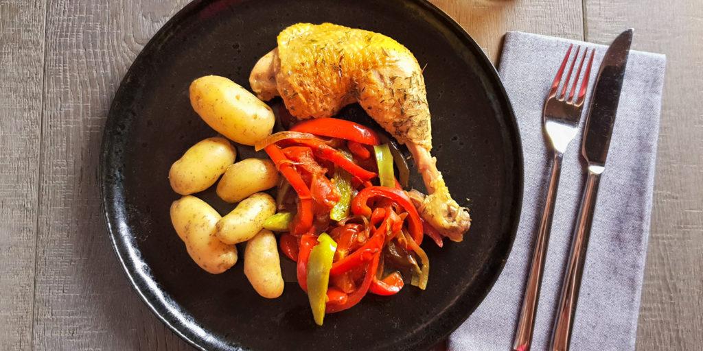 Poulet Basquaise Basque Chicken