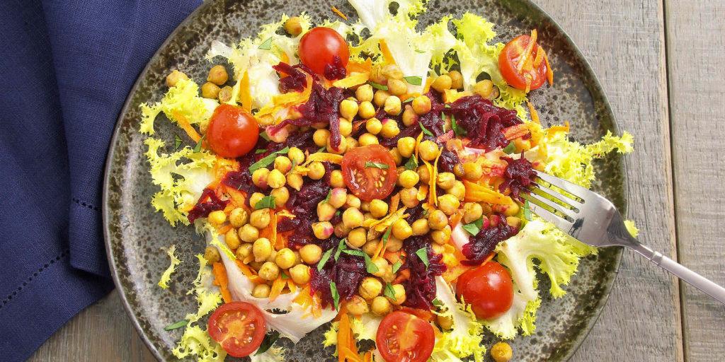 Salade Betterave Carotte Pois Chiche Cumin Beetroot Carrot Cumin Chickpea Salad