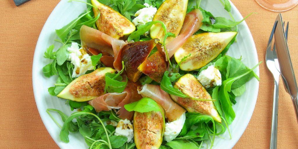 Salade Proscuito Mozzarella Figues Proscuito Mozzerella Figs Salad