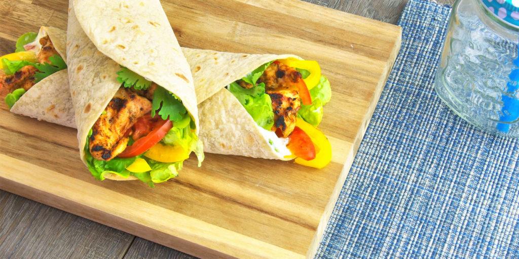 Wrap Dinde Cajun Fromage Frais Légumes Cajun Turkey Wrap Fromage Frais Vegetables