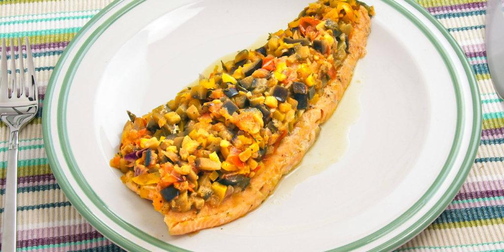 Filet Truite Provençale Provencal Trout Filet