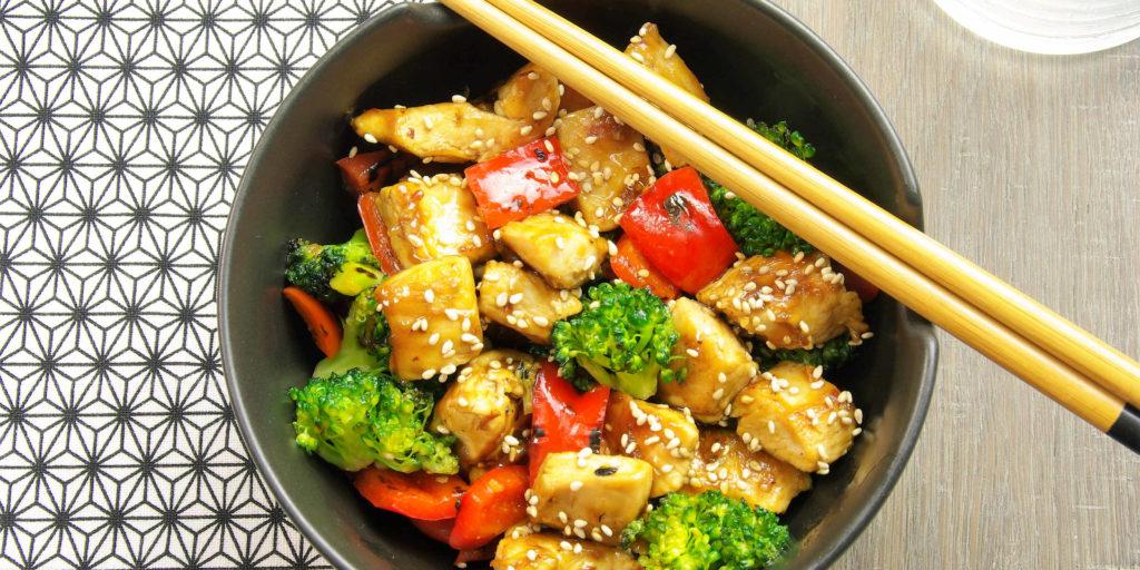 Sauté Poulet Légumes Teriyaki Teriyaki Chicken Vegetables