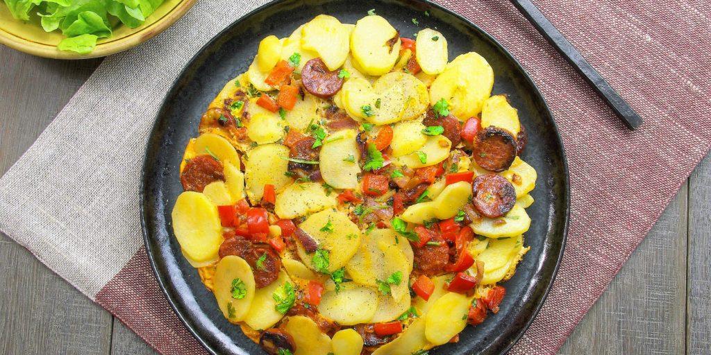 Tortilla Poivron Chorizo Red Pepper Chorizo Tortilla