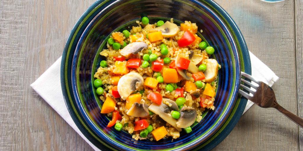 Boulgour Sauté Légumes Stir Fry Bulgur Vegetable
