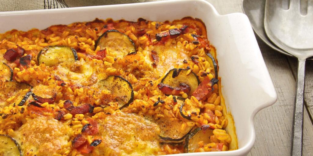 Gratin Blé Tomates Mozzarella Tomato Mozzarella Wheat Gratin