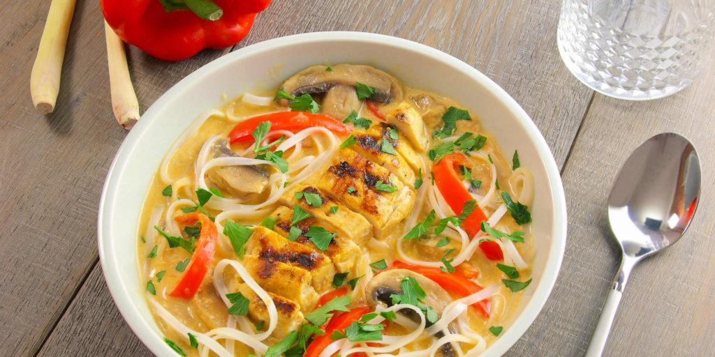 Soupe Thaï Poulet Cacahuètes Chicken Peanut Thai Soup