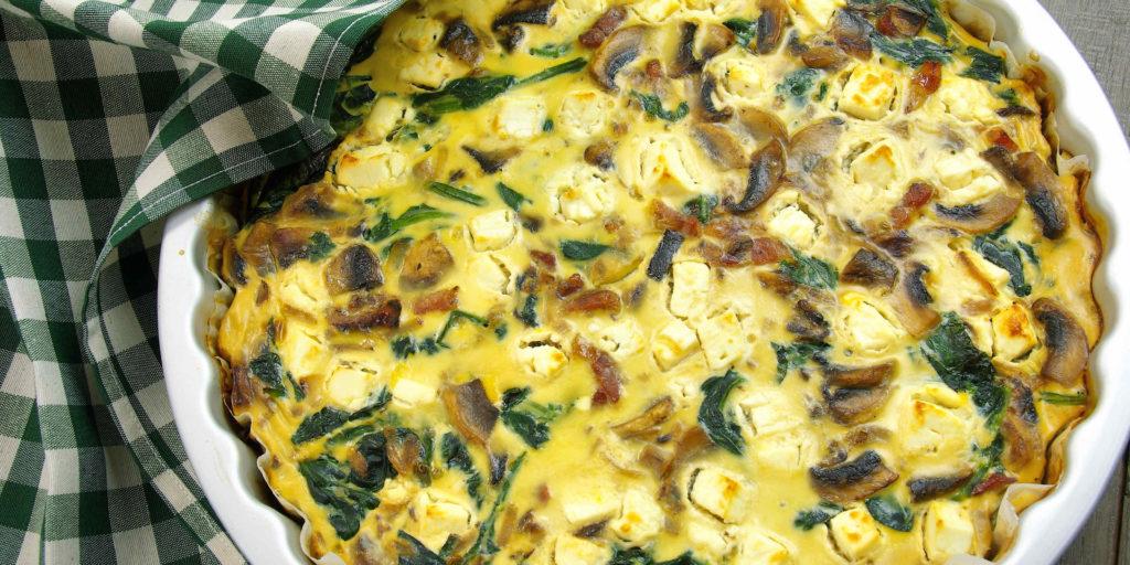 Quiche Sans Pâte Épinards Spinach Quiche Without Pastry
