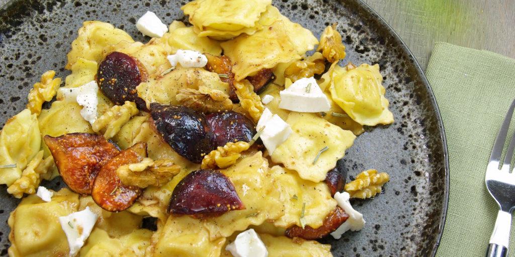 Ravioli Figues Caramélisées Caramelised Figs Ravioli