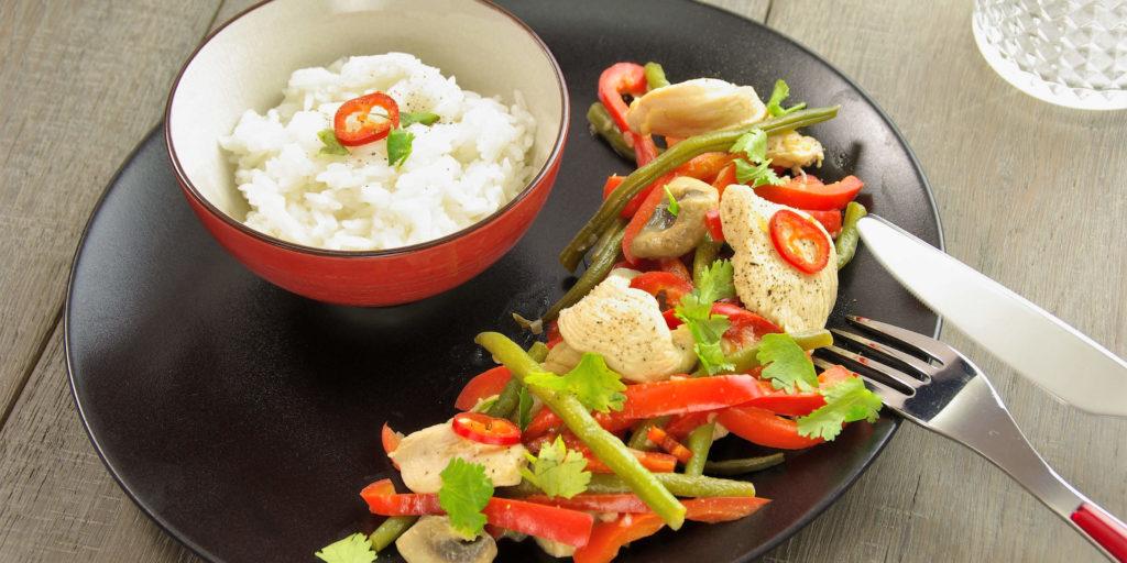 Sauté Poulet Thai Légumes Thai Chicken Vegetable