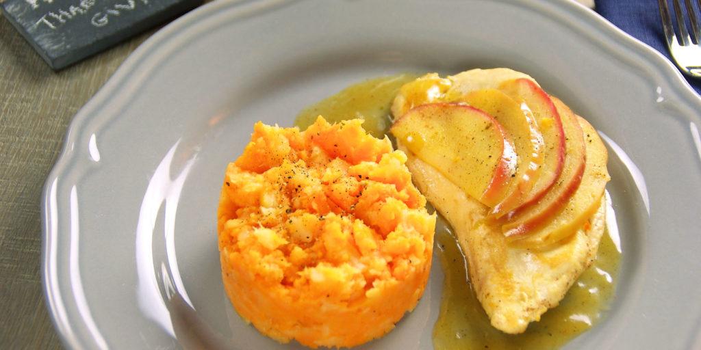 Dinde Pommes Purée Bicolore Apple Turkey Two Coloured Purée