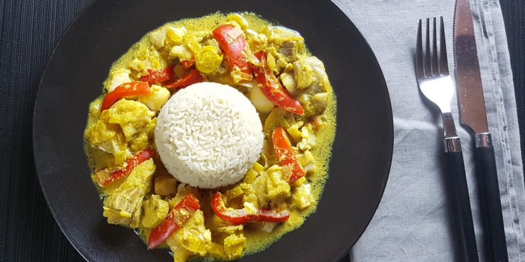 Filet Lieu Curry Hake Filet Curry