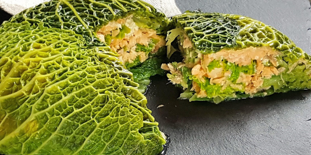 Chou Farci Au Saumon Salmon Stuffed Cabbage
