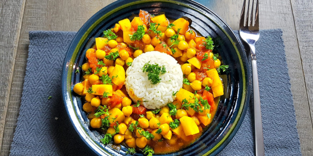 Curry Pois Chiches Pomme Terre Chickpea Potato Curry