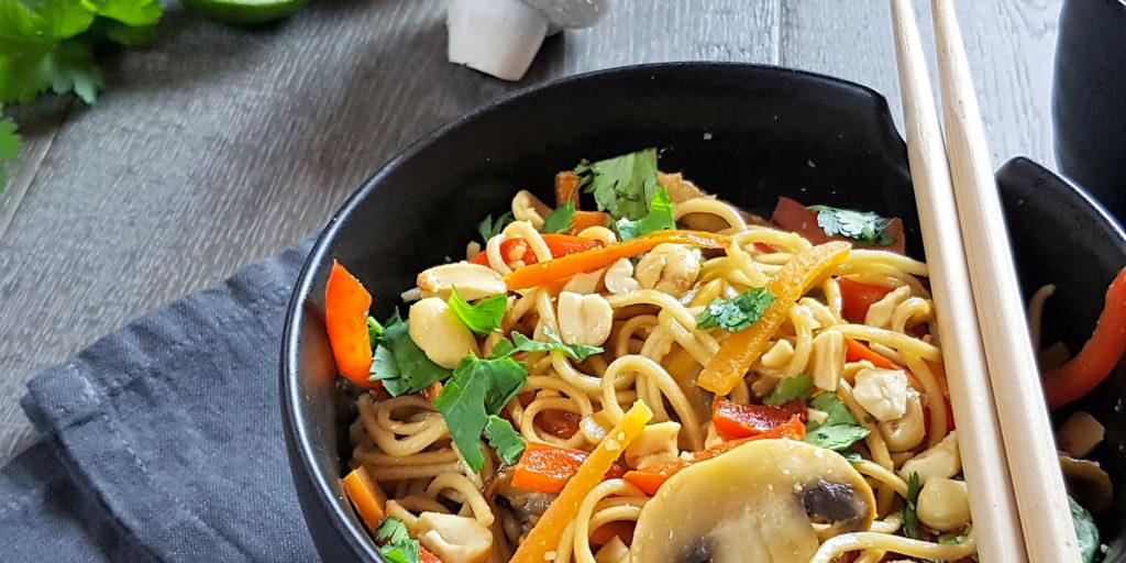 Nouilles Asiatiques Sauce Cacahouètes Asian Noodles Peanut Sauce